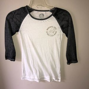 Tops - Woodsy owl baseball tee
